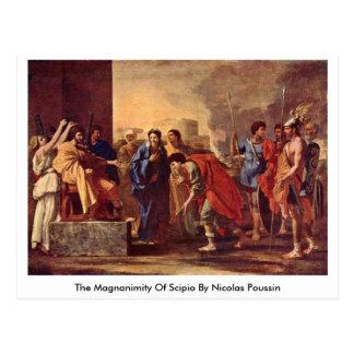 A magnanimidade de Scipio por Nicolas Poussin Cartão Postal