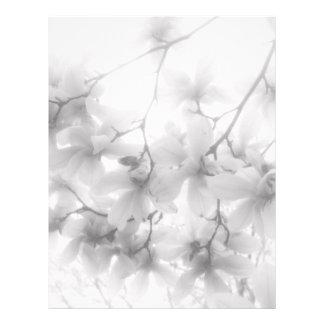 A magnólia floresce papel de carta