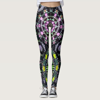 A maioria de arte colorida popular do quadro da leggings