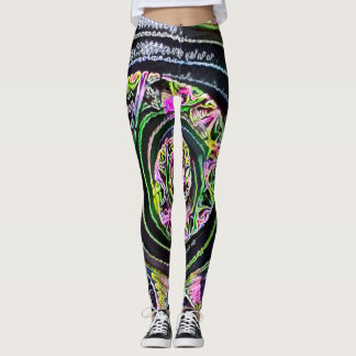 A maioria de arte popular do giz da flor leggings