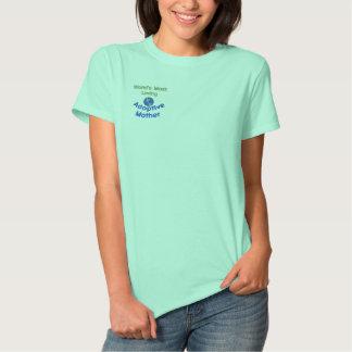 A maioria de camisa bordada Loving da mãe adoptiva Camiseta Polo Bordada Feminina