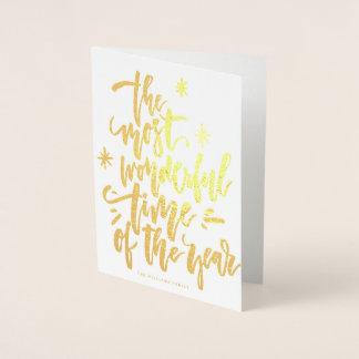 A maioria de cartão maravilhoso da FOLHA de OURO