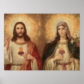 A maioria de coração sagrado de Jesus santamente e Posters