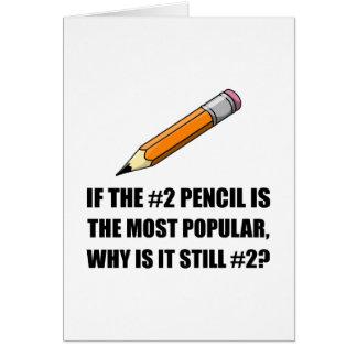 A maioria de lápis popular cartão