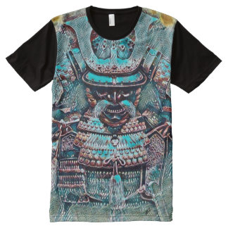 A maioria de pop art popular do Shogun do samurai Camisetas Com Impressão Frontal Completa