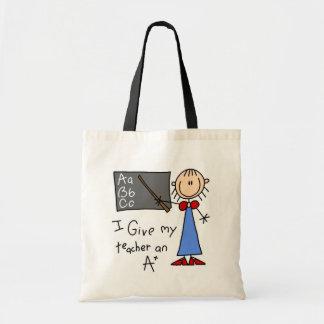 A mais o professor bolsa tote