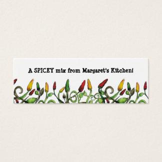 a malagueta picante do doodle do hippie salpica o cartão de visitas mini