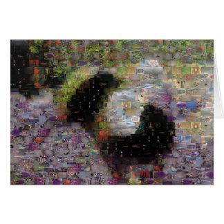 A malha Bumble o cartão do mosaico da abelha
