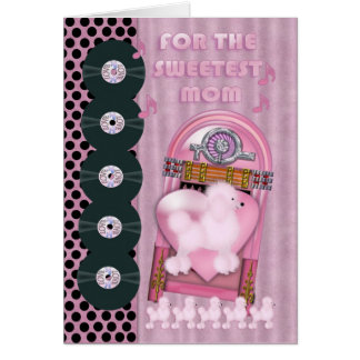 a mamã a mais doce, cartão do dia dos namorados