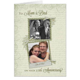 À mamã & ao pai no Aniversário-Costume do __th Cartão Comemorativo