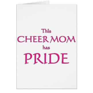 A mamã do elogio tem o orgulho! Mamã orgulhosa do Cartão Comemorativo