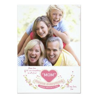 A mamã significa tudo cartão com fotos