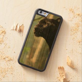 A mancha de madeira da pantera manchou a caixa 6 capa cherry bumper para iPhone 6