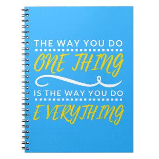 A maneira você faz TUDO caderno