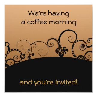 A manhã do café convida convite personalizado