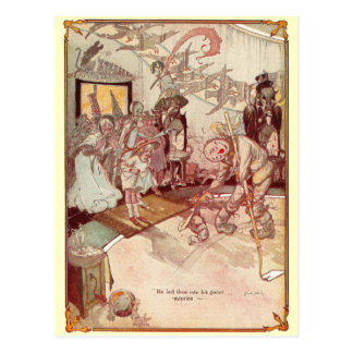 A mansão estranha do espantalho cartão postal