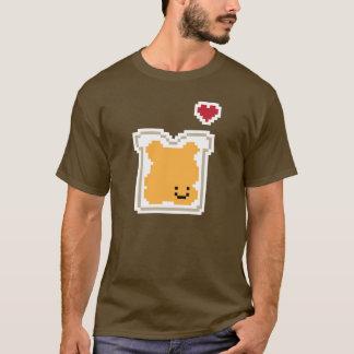 A manteiga de amendoim acopla a camisa