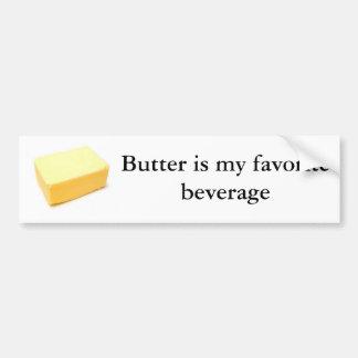 A manteiga é minha bebida favorita adesivo para carro