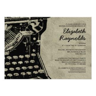 A máquina de escrever retro fecha chás de panela