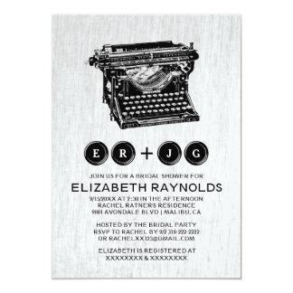 A máquina de escrever velha fecha chás de panela convites personalizado