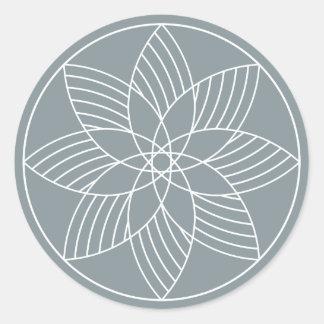 A máquina fantástica - etiqueta redonda - ardósia
