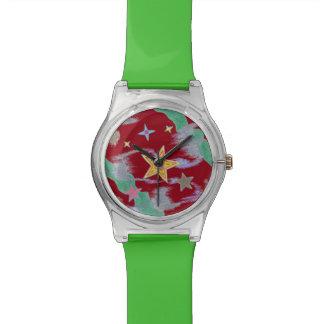 A maravilha do Natal da noite Stars o relógio de