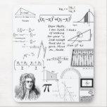 A matemática é meu tapete do rato da vida mousepad
