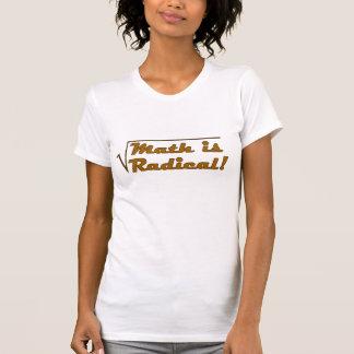 A matemática é radical t-shirt
