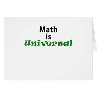 A matemática é universal