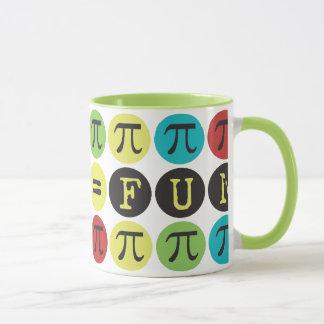 A matemática iguala o divertimento - modificação caneca
