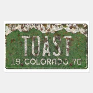 A matrícula velha de Colorado brindou etiquetas