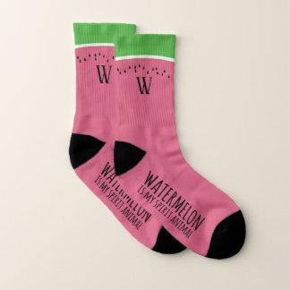 A melancia cor-de-rosa engraçada é minhas meias do