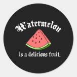 A melancia é uma fruta deliciosa adesivos redondos