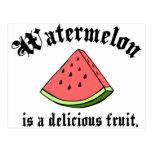 A melancia é uma fruta deliciosa cartão postal