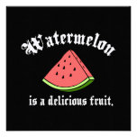 A melancia é uma fruta deliciosa convite