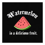 A melancia é uma fruta deliciosa convite quadrado 13.35 x 13.35cm