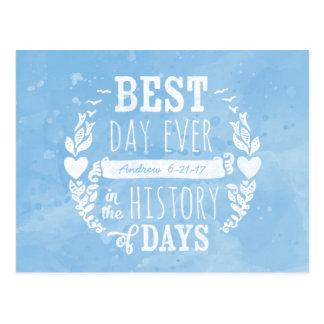 A melhor aguarela do dia nunca, aniversário do cartão postal