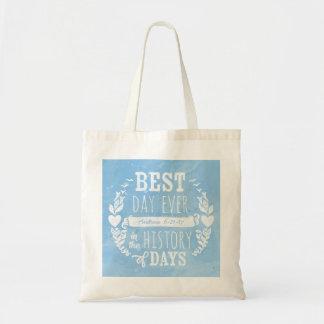 A melhor aguarela do dia nunca, aniversário do sacola tote budget