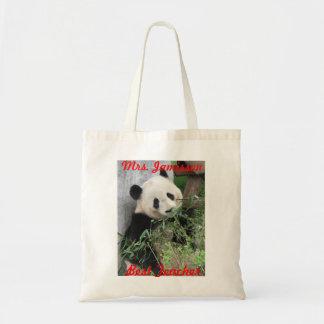 A melhor bolsa de canvas do professor, panda,