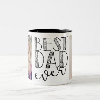Caneca De Café Em Dois Tons A melhor caneca do pai nunca