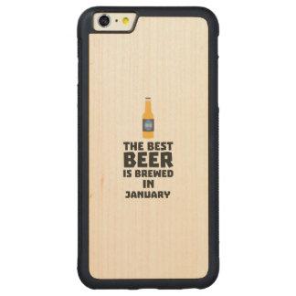 A melhor cerveja é em maio Z96o7 fabricado cerveja Capa Bumper Para iPhone 6 Plus De Bordo, Carved