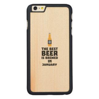 A melhor cerveja é em maio Z96o7 fabricado cerveja Capa Para iPhone 6 Plus De Bordo, Carved
