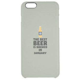 A melhor cerveja é em maio Z96o7 fabricado cerveja Capa Para iPhone 6 Plus Transparente