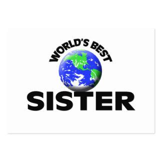 A melhor irmã do mundo cartões de visitas