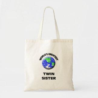 A melhor irmã gêmea do mundo sacola tote budget