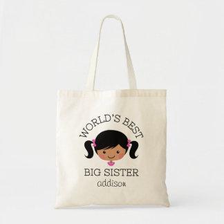 A melhor irmã mais velha dos mundos personalizada bolsa tote