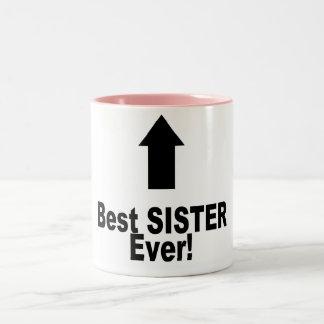 A melhor irmã nunca caneca