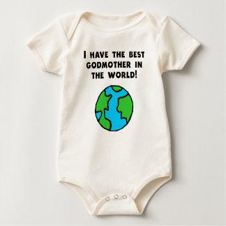 A melhor madrinha no mundo macacãozinho para bebê