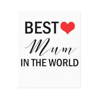 A melhor mãe no impressão das canvas do dia das