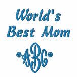 A melhor mamã do mundo feito sob encomenda do moletom bordado